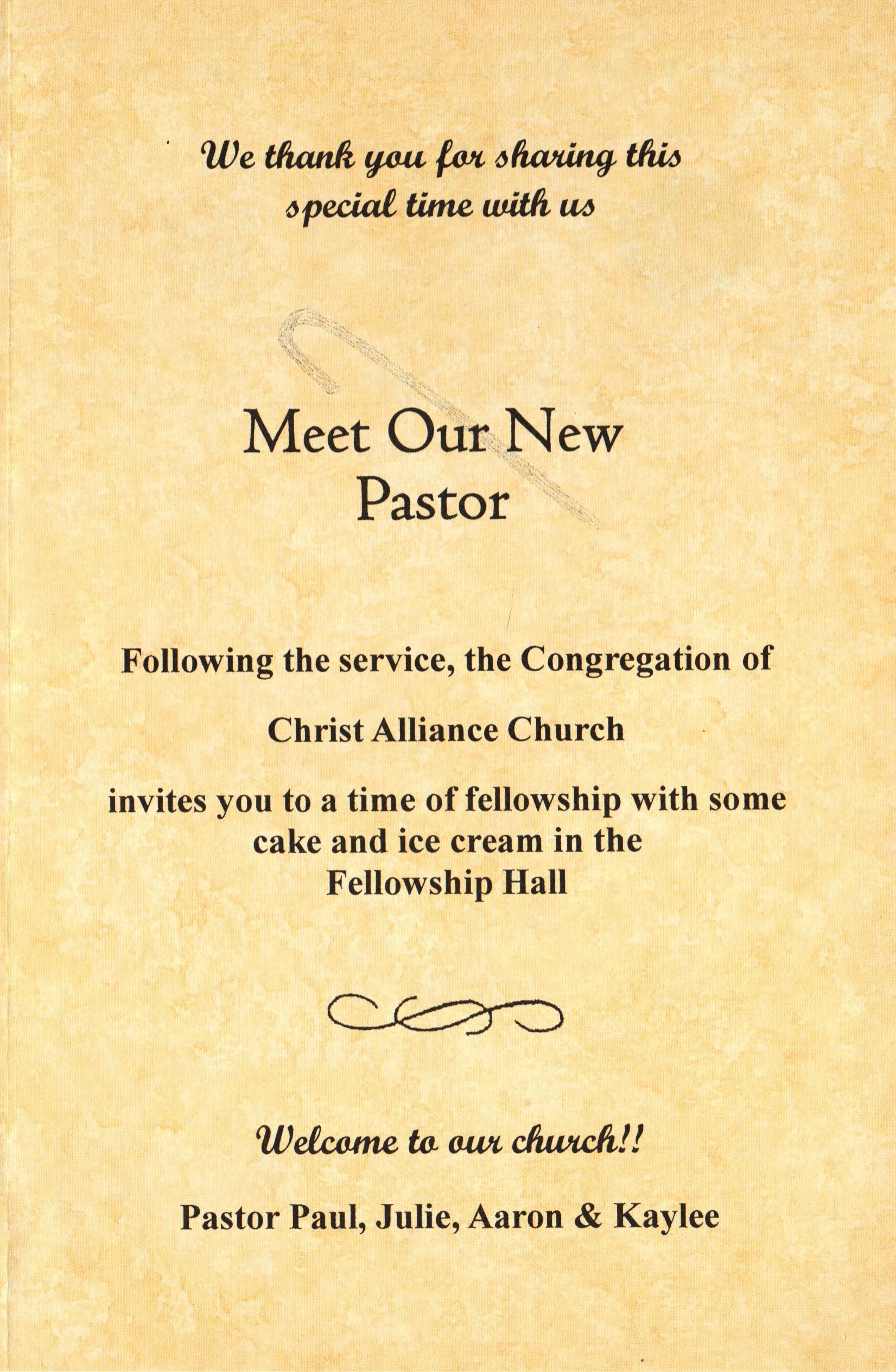 2017 Pastor Installation Service Page 3 Christ Alliance Church